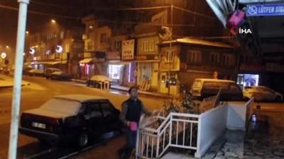 Akşam saatlerinde başlayan kar yağışı vatandaşları sevindirdi