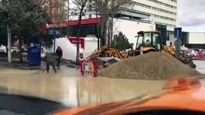 Başkentte su borusu patladı - ANKARA