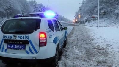 Bolu Dağı'nda kar yağışı - BOLU