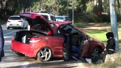aydinlatma diregi -  Ehliyetsiz sürücünün kullandığı araçta can pazarı: 4 yaralı