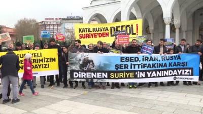 arastirmaci - Başkentte 'İdlib Halkıyla Dayanışma' eylemi - ANKARA