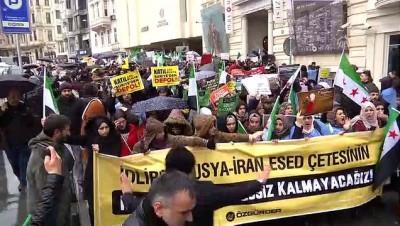 İdlib'deki saldırılar protesto edildi - İSTANBUL