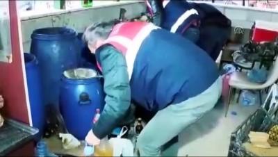 sahte icki - Jandarmadan sahte ve kaçak içkiye ağır darbe - ANKARA