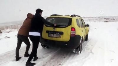 Kar yağışı ulaşımı etkiledi - AĞRI