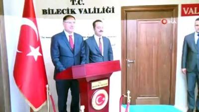 kamu denetciligi -  Kamu Başdenetçisi Şeref Malkoç Bilecik'te