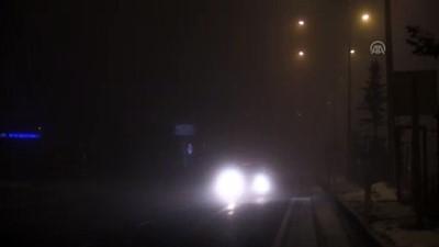 Ağrı'da yoğun sis etkili oluyor (2)