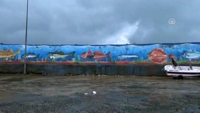 Batı Karadeniz'de dev dalgalar limanı aştı - DÜZCE