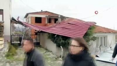 adliye binasi -  Biga'da fırtınanın etkisiyle adliyenin çatısı uçtu