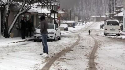 Kırklareli'nde kar yağışı etkili oluyor - KIRKLARELİ