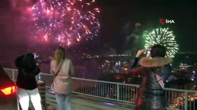15 Temmuz Şehitler Köprüsü'nde yılbaşı coşkusu
