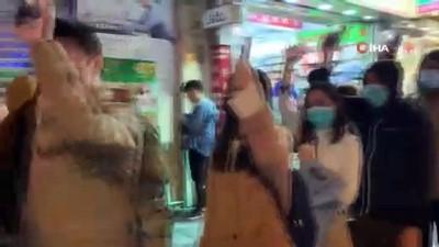 - Hong Kong yeni yıla protestolarla giriyor - Havai fişek gösterileri ilk kez iptal edildi