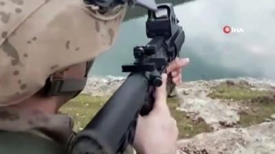 plastik patlayici -  Siirt'te PKK'lı teröristlerin kayalıkların arasına gizlediği patlayıcı bulunarak imha edildi