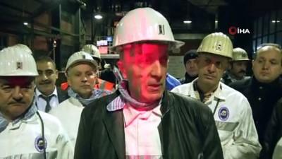 Türk İş Genel Başkanı Atalay, yerin 560 metre altına indi