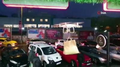 Türkiye'de bir ilk! Drone ile çorba servisi başladı