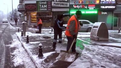 Nevşehir'de mevsimin ilk karı yağdı