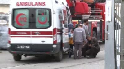 yangin yeri -  Çatalca'da fabrika yangını