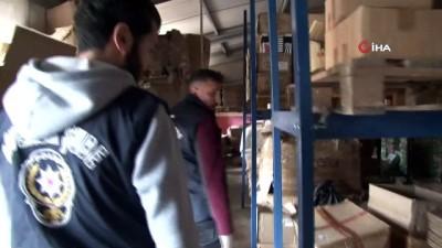 500 bin TL değerindeki kaçak ürünlerin bulunduğu depoya operasyon Haberi