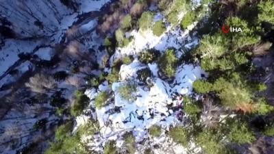 Uludağ'da kaybolan dağcılar için drone ile arama yapıldı