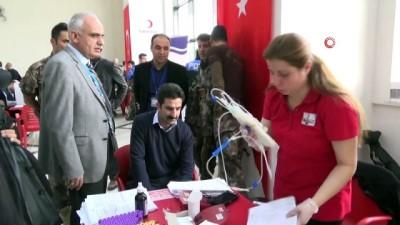 'Acil' kan bağışı çağrısına Elazığ polisinden destek