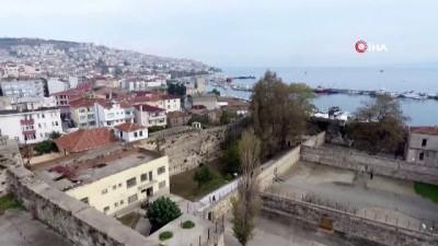 'Anadolu'nun Alkatraz'ı Tarihi Sinop Cezaevi havadan görüntülendi