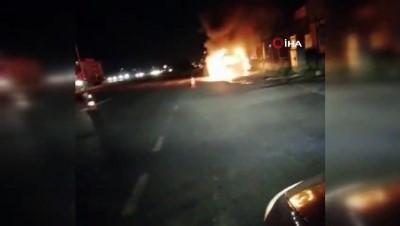 amator -  Seyir halindeki araç cayır cayır yandı