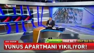 Yunus Apartmanı yıkılıyor