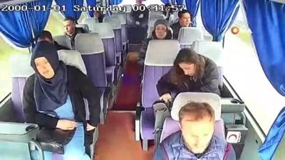 kurtarma ekibi - 7 kişinin yaralandığı kazada korku ve panik anları kamerada