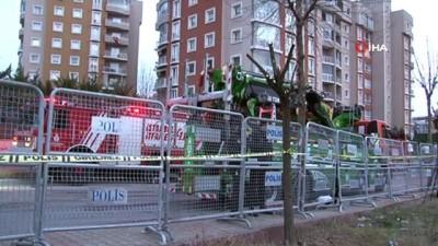 Çekmeköy'de düşen helikopterin enkaz çalışmaları devam ediyor