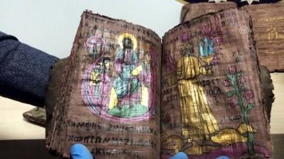 papirus - Denizli'de yaklaşık bin yıllık altın yazmalı kitaplar ele geçirildi