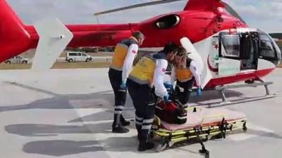 helikopter -  Yaralı çocuk helikopter ile sevk edildi