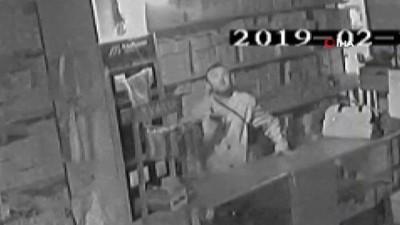 Bir gece 3 dükkan soydu kameraya 'sus' işareti yaptı