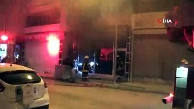 yangina mudahale -  Tekstil atölyesinde yangın çıktı, bir itfaiye eri yaralandı