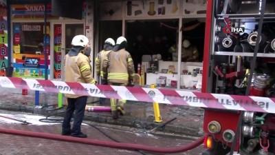 yangina mudahale -  Avcılar'da iş yeri yangını