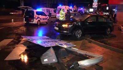 ilk mudahale -  Beşiktaş'ta hızını alamayan otomobil 3 araca çarptı: 4 yaralı