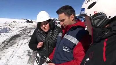 Kar altındaki Doğu'da elektrik arızalarında 'drone' dönemi