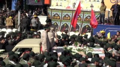 İran'daki saldırıda hayatını kaybeden askerler için cenaze töreni - İSFAHAN