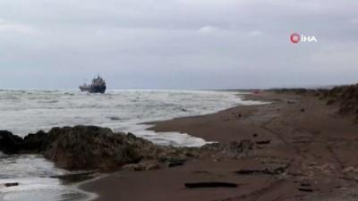 kuru yuk gemisi -  Karadeniz'de kuru yük gemisi karaya oturdu