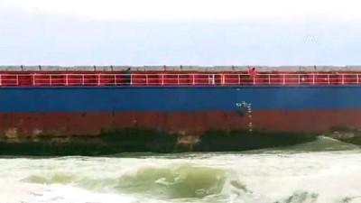kurtarma ekibi - Kuru yük gemisi karaya oturdu (3) - KOCAELİ