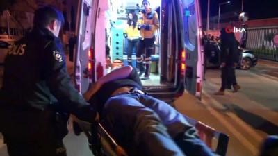 alkollu surucu -  Polisten kaçtı İl Emniyetin kapısına çarpıp kaza yaptı