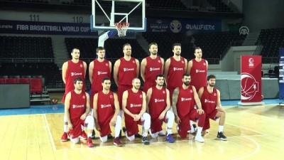 A Milli Erkek Basketbol Takımı basın mensuplarıyla bir araya geldi - ANKARA