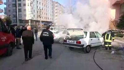 yangina mudahale - Park halindeki otomobil alev aldı - ÇORUM