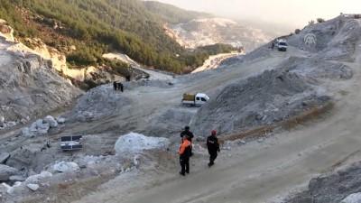 Maden sahasındaki heyelan - MUĞLA