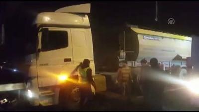 Hafriyat kamyonunun tankerle çarpışması - İSTANBUL