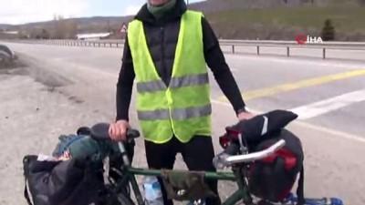 Bisikletiyle Japonya'ya giden İngiliz, Türkiye rotasında