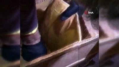 adli kontrol -  Karton kutunun çevresine gizlenen 4 kilo 250 gram eroin ele geçirildi