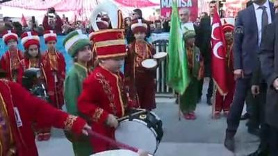 Cumhurbaşkanı Erdoğan'a mehterli karşılama - MANİSA