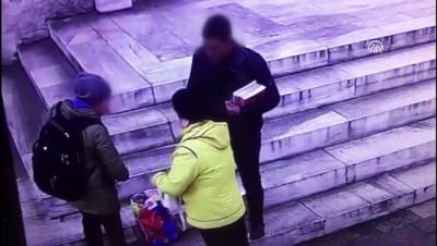 guvenlik kamerasi - Fatih'te 'tırnakçılık' yöntemiyle hırsızlık - İSTANBUL