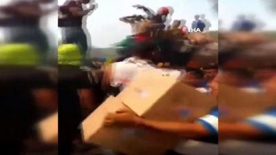 - İki İnsani Yardım Kamyonu Yakıldı: 20 Yaralı Var