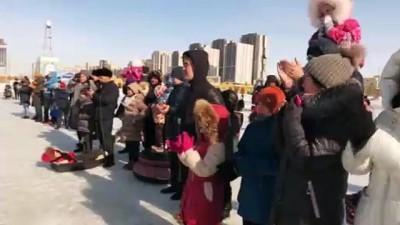 Kazakistan'da Orta Çağ savaş teknikleri gösterisi - ASTANA