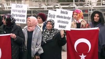 Mısır'da yaşanan 9 gencin idamı Büyükelçilik önünde protesto edildi